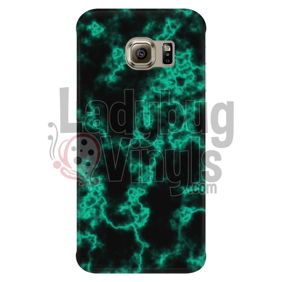 Mint On Black Marble Phone Case Galaxy S6 Edge Cases