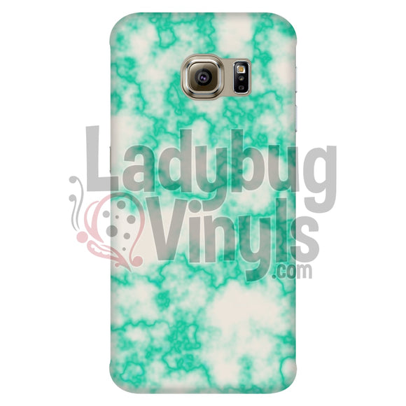 Mint On White Marble Phone Case Galaxy S6 Edge Cases