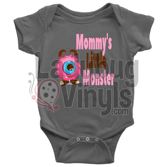 Mommy's Little Monster (pink) Onesie - LadybugVinyls