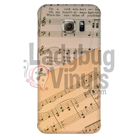Music Sheet Phone Case Galaxy S6 Edge Cases