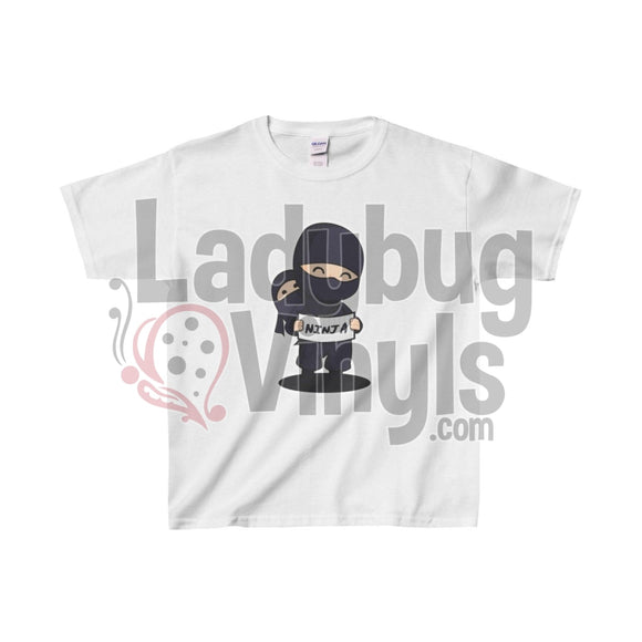 Ninja Kids Heavy Cotton™ Tee - LadybugVinyls