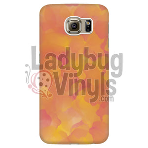 Orange and Pink Watercolor Phone Case - LadybugVinyls