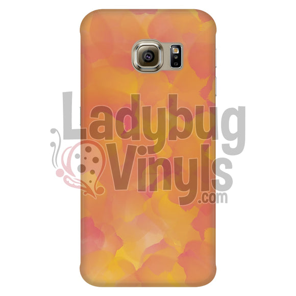Orange And Pink Watercolor Phone Case Galaxy S6 Edge Cases