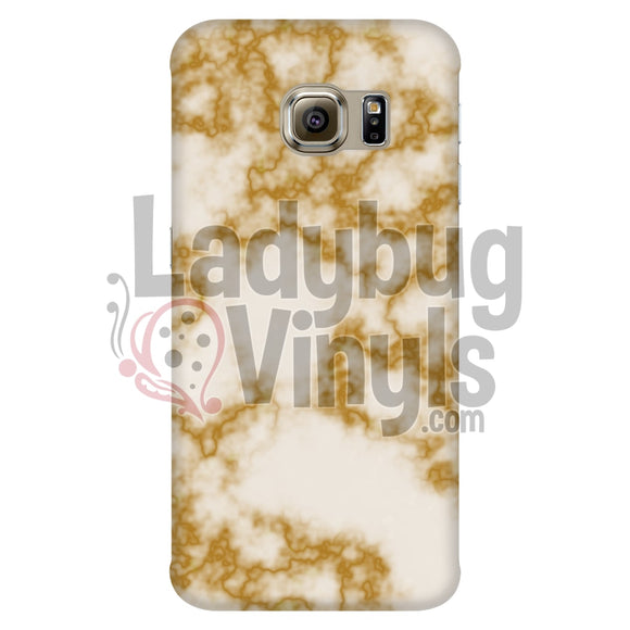 Orange On White Marble Phone Case Galaxy S6 Edge Cases
