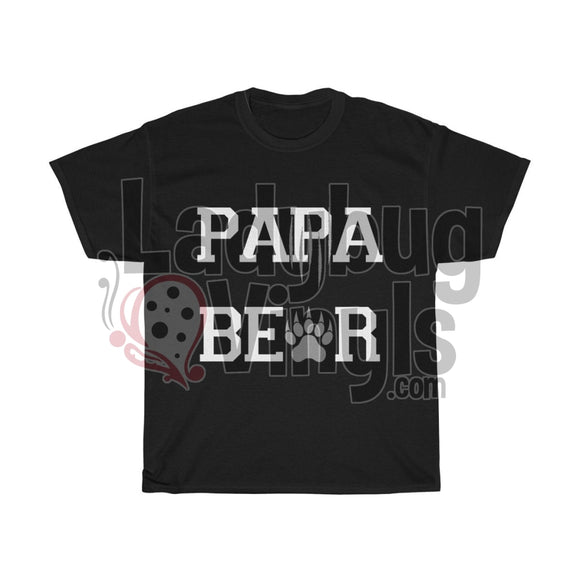 Papa Bear Mens T-Shirt Black / L