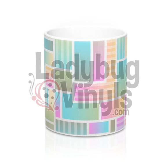 Pastel Blocks All Over Print 11Oz Coffee Mug