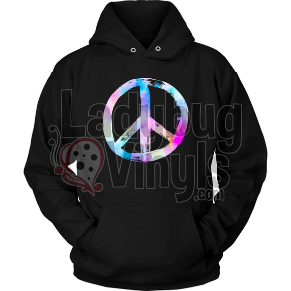 Peace Sign Hoodie Unisex / Black S T-Shirt