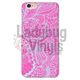 Pink and Blue Lace Phone Case - LadybugVinyls