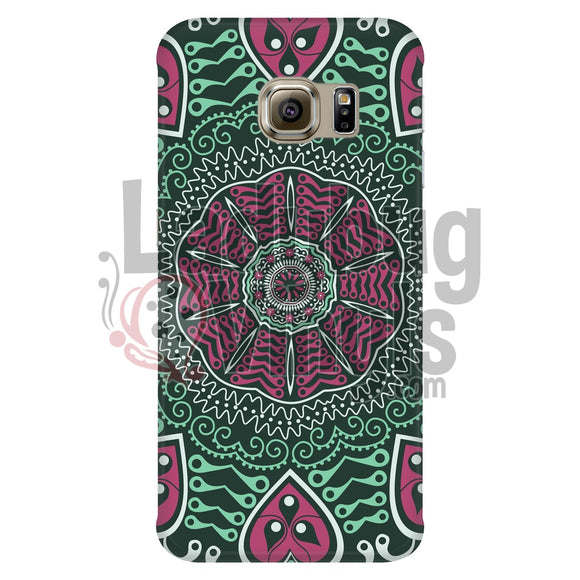 Pink And Green Mandala Phone Case Cases