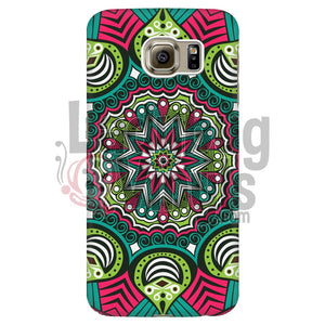 Pink And Green Mandala Phone Case Galaxy S6 Edge Cases