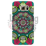 Pink And Green Mandala Phone Case Galaxy S6 Cases