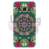 Pink And Green Mandala Phone Case Galaxy S7 Cases