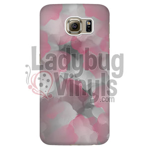 Pink and Grey Watercolor Phone Case - LadybugVinyls
