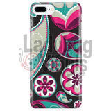Pink and Teal Paisley Phone Case - LadybugVinyls