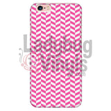 Pink And White Check Chevron Iphone 6 Plus/6S Plus Phone Cases