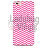 Pink And White Check Chevron Iphone 6/6S Phone Cases