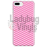 Pink And White Check Chevron Iphone 7 Plus/7S Plus Phone Cases