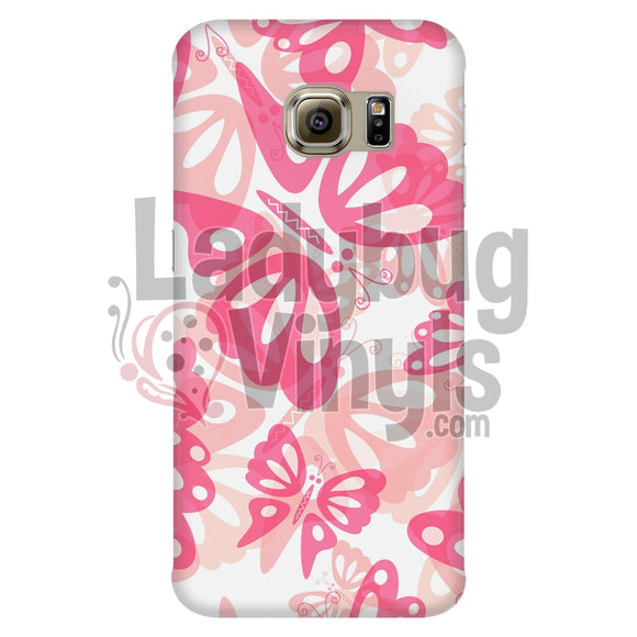 Pink Butterfly Phone Case Galaxy S6 Edge Cases
