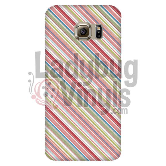 Pink Green Stripe Phone Case Galaxy S6 Edge Cases
