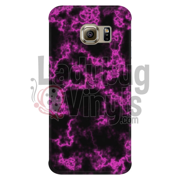 Pink On Black Marble Phone Case Galaxy S6 Edge Cases