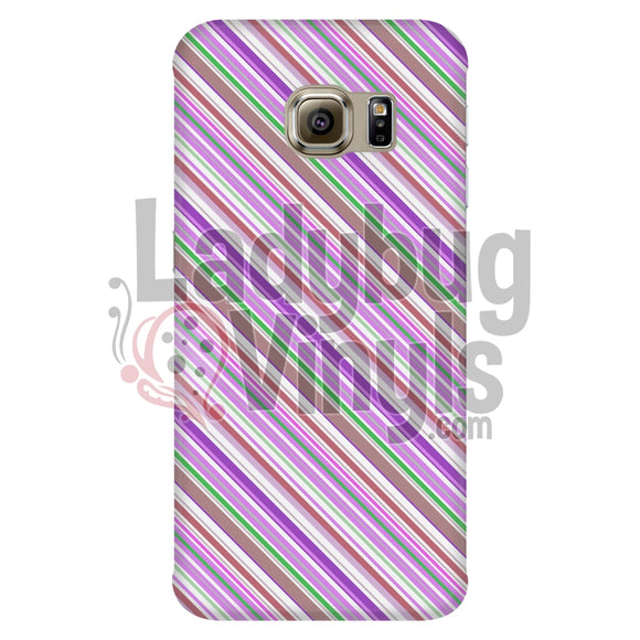 Pink Purple Stripe Phone Case - LadybugVinyls