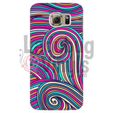 Pink Teal Swirly Phone Case Galaxy S6 Cases