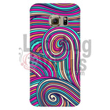 Pink Teal Swirly Phone Case Galaxy S6 Edge Cases