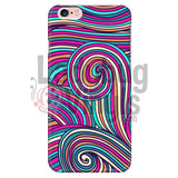 Pink Teal Swirly Phone Case Iphone 6 Plus/6S Plus Cases
