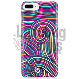 Pink Teal Swirly Phone Case Iphone 7 Plus/7S Plus Cases