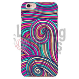 Pink Teal Swirly Phone Case Iphone 7/7S Cases