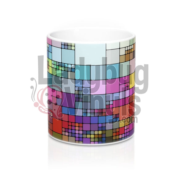 Pixelated All Over Print 11Oz Coffee Mug