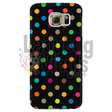 Polka Dot On Black Galaxy S6 Phone Cases