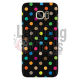 Polka Dot On Black Galaxy S7 Phone Cases
