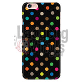 Polka Dot On Black Iphone 6 Plus/6S Plus Phone Cases