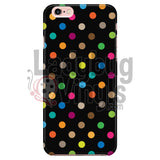 Polka Dot On Black Iphone 6/6S Phone Cases