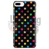 Polka Dot On Black Iphone 7 Plus/7S Plus Phone Cases