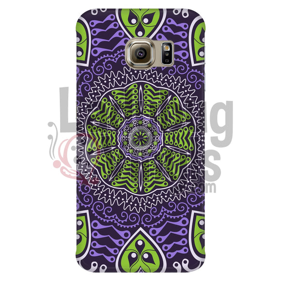 Purple And Green Mandala Phone Case Galaxy S6 Edge Cases
