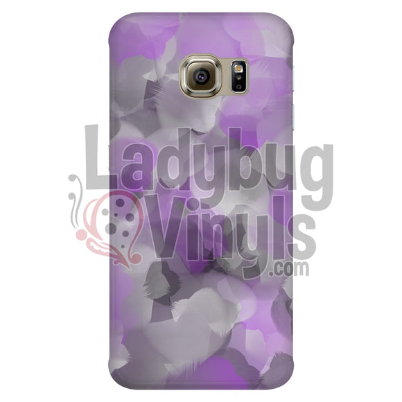 Purple And Grey Watercolor Phone Case Galaxy S6 Edge Cases