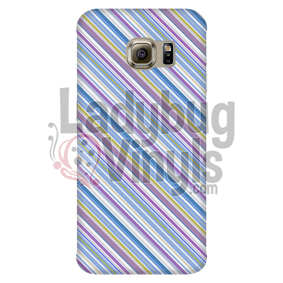 Purple Blue Stripe Phone Case Galaxy S6 Edge Cases