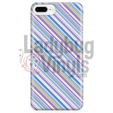Purple Blue Stripe Phone Case Iphone 7 Plus/7S Plus Cases