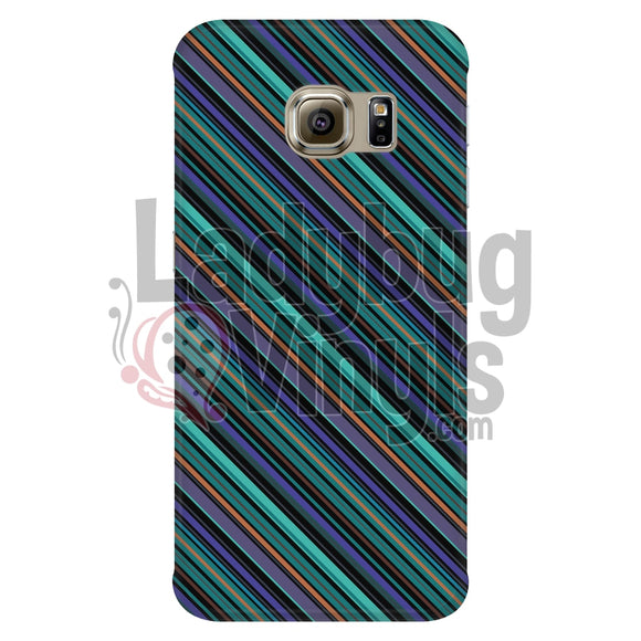 Purple Teal Stripe Phone Case Galaxy S6 Edge Cases