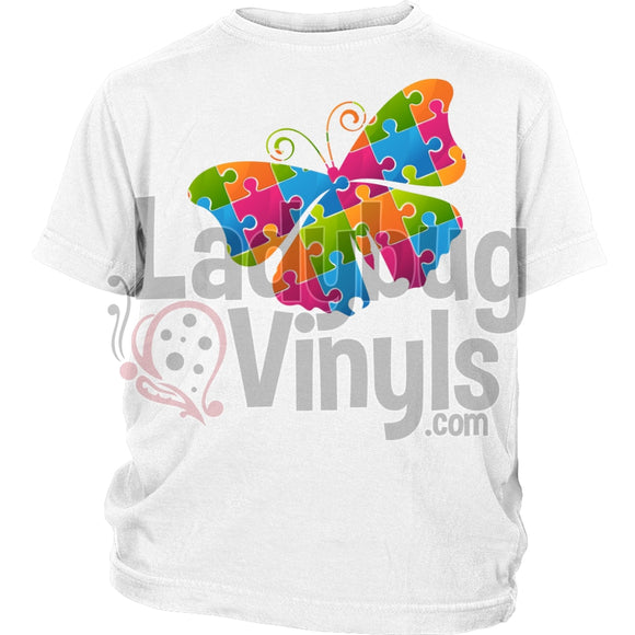 Puzzle Butterfly Kid's T-Shirt - LadybugVinyls
