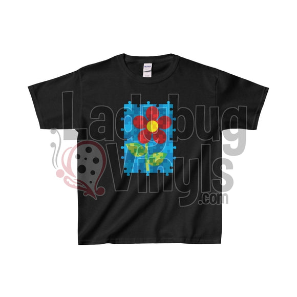 Puzzle Flower Kids Heavy Cotton™ Tee - LadybugVinyls