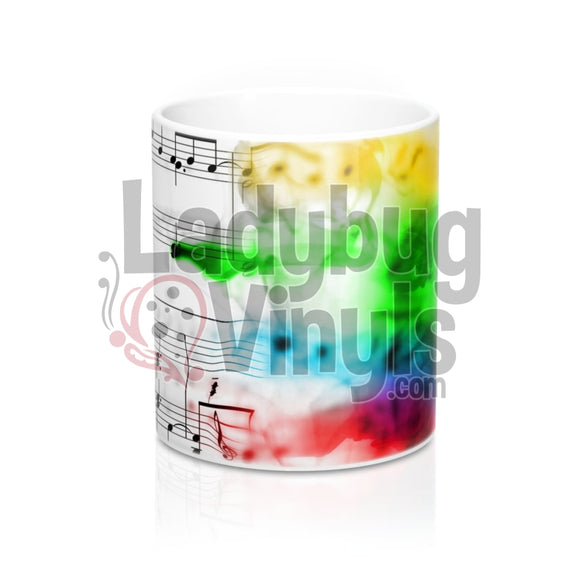 Rainbow Music All Over Print 11Oz Coffee Mug