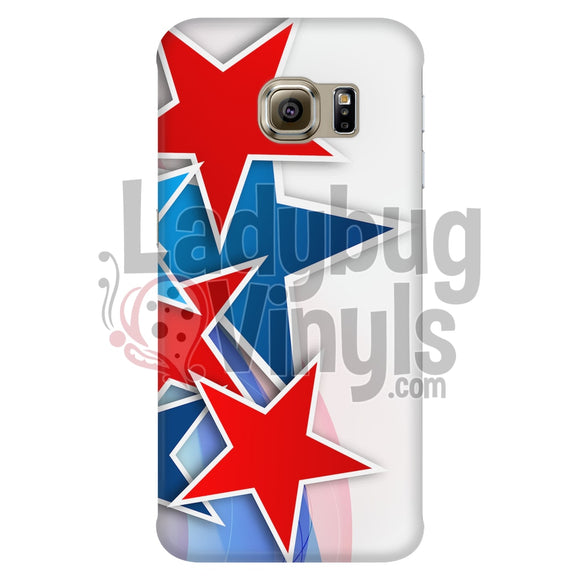 Red And Blue Stars Phone Case Galaxy S6 Edge Cases