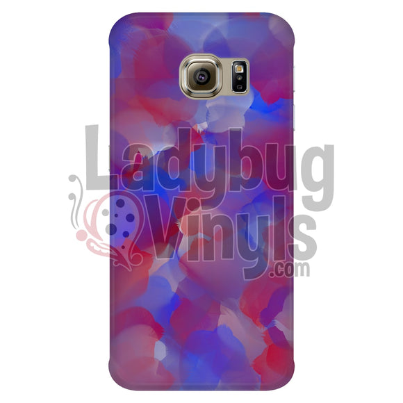 Red And Blue Watercolor Phone Case Galaxy S6 Edge Cases