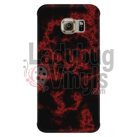 Red On Black Marble Phone Case Galaxy S6 Edge Cases