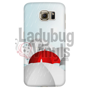 Red Umbrella Phone Case - LadybugVinyls