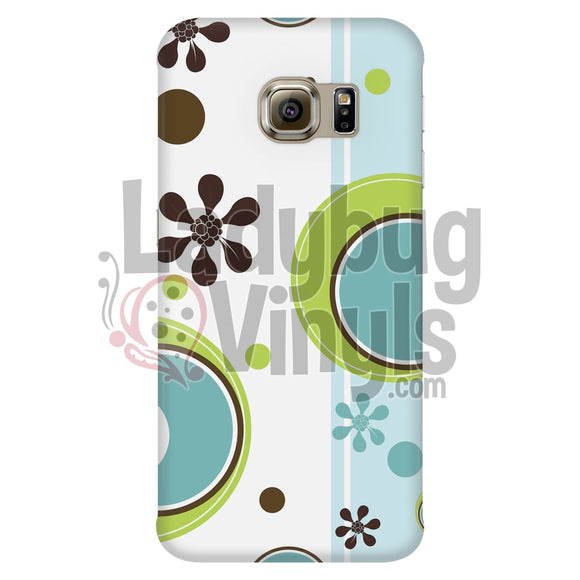 Retro Circles Blue And Green Phone Case Galaxy S6 Edge Cases