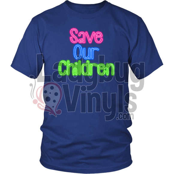 Save Our Children T-Shirt District Unisex Shirt / Royal Blue S